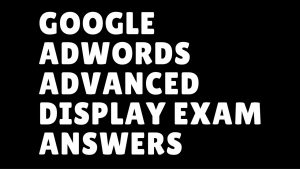Google Adwords Advanced Display Exam Answers