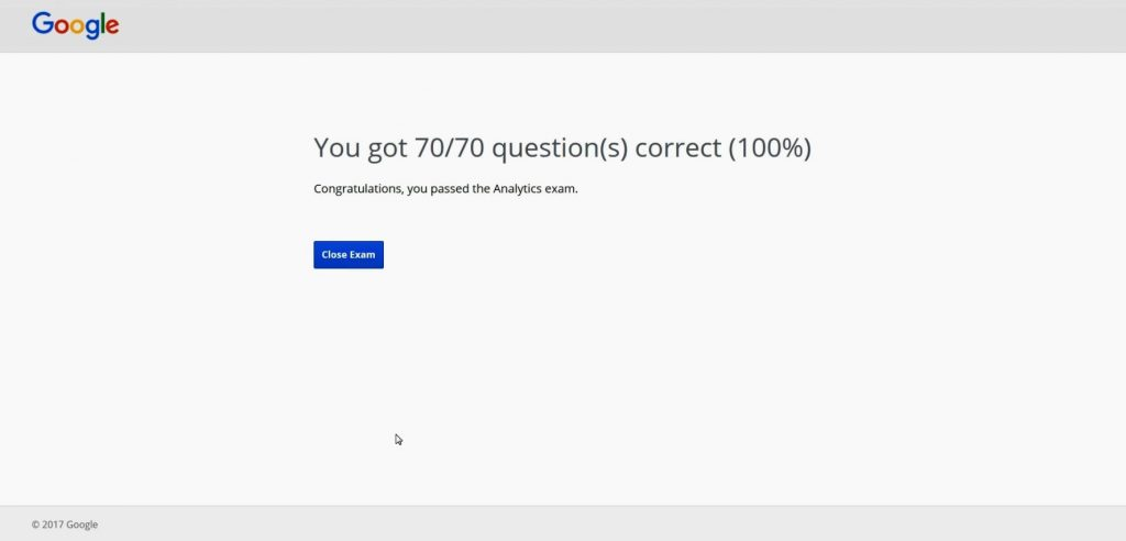 Google Analytics Exam Answers 2017 - 100% Correct Answers
