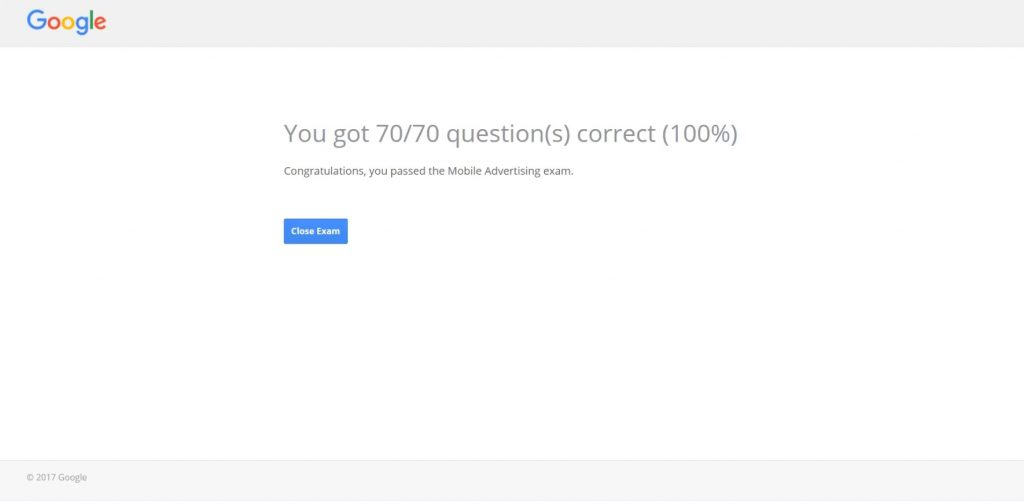 Google Mobile Advertising Exam Answers 2017